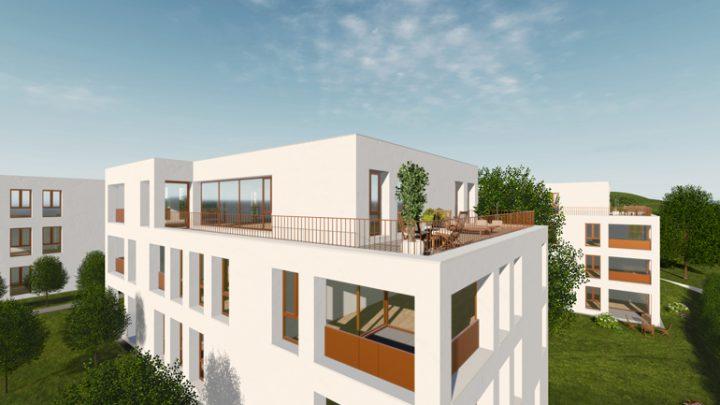 Wohnanlage Terrasse